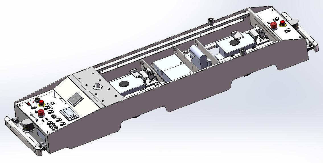 用于显示agv小车的内部结构
